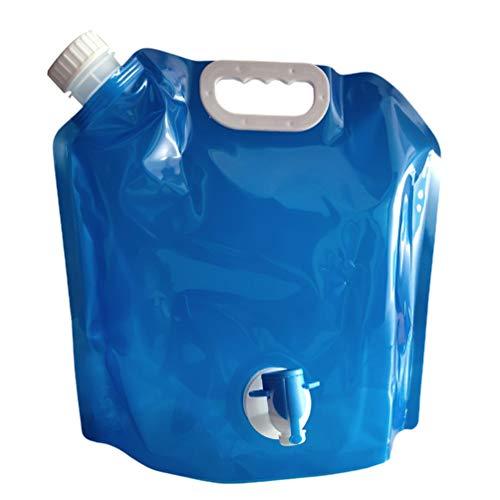 Inicio Bolsa de Agua portátil Plegable para Exteriores con Grifo Bolsa de Almacenamiento de Agua para automóvil Cubo Bolsa de Agua de Emergencia Botella Deportiva para Montar (Blue5L)
