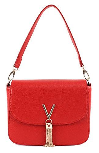 Mario Valentino Valentino by Damen Divina .Shoulder Bag, Rot (Rosso), 8x17x23 cm (B x H x T)