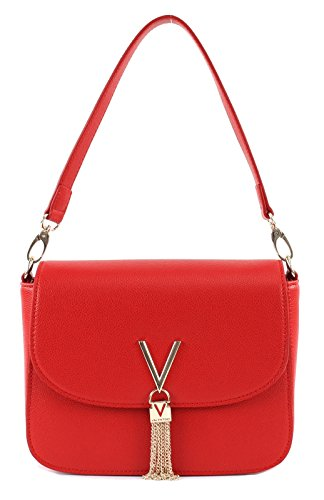 Mario Valentino Valentino by Damen Divina .Shoulder Bag, Rot (Rosso), 8x17x23 cm (B x H x T)