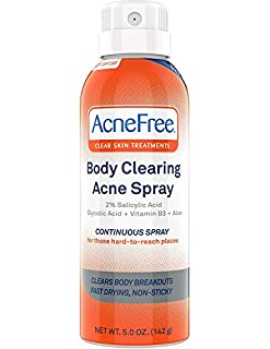 Acne Free Body Clearing Acne Treatment Spray For Body Acne And