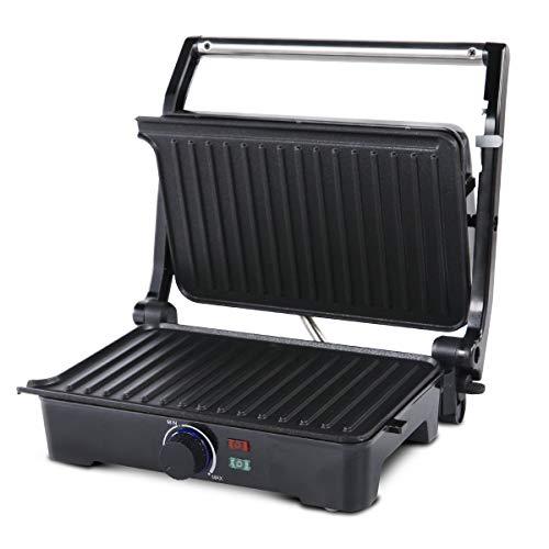 AGARO Galaxy 1000-Watt Sandwich Maker with Non-Stick Grill Plates, 180° Flat Openble Plates and Temperature Adjustment Knob, Sandwiches Griller