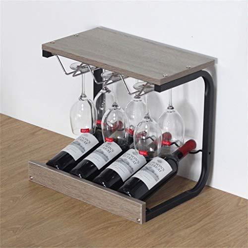 GAXQFEI Estanterías de Vino Ornamentos de Madera de Madera de Pie, Soportes de Copa Al Revés, Copas de Vino, Estantería de Vino, L43.5Xd31Xh39.8Cm,Marrón