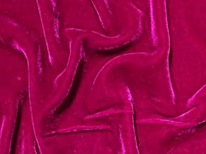 SyFabrics silk velvet fabric 54 inches wide Verry Berry