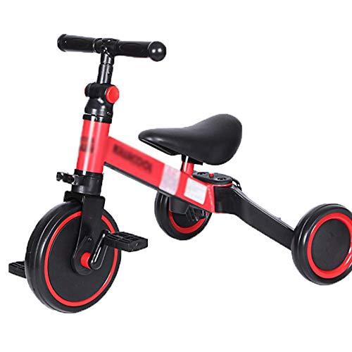 Byfjkkl 3 in 1 Kinder Dreiräder Für 1-4 Jahre Kleinkind Trike Baby Balance Bike 3 Räder Jungen Mädchen...