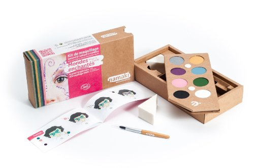 Namaki - Maquillage enfants bio - Kit 8 Couleurs Mondes enchantés