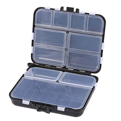IMIKEYA Plastic Tackleboxen Multifunctioneel Visaas Lokmiddel Haken Doos Vissen Accessoire Opbergkoffer Container (Zwart)