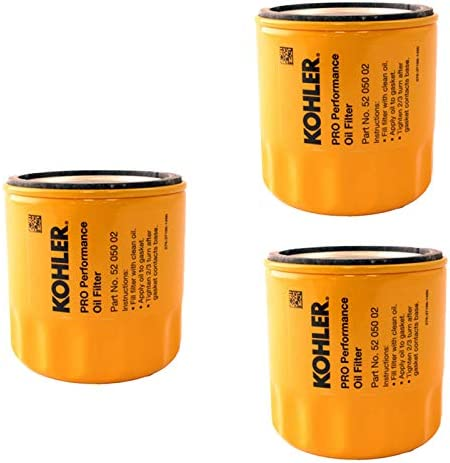 lowest Kohler 52 050 02-S Engine Oil Filter Extra Capacity for CH11 - CH15, CV11 - CV22, popular M18 - M20, MV16 - MV20 lowest and K582 (Pack online sale