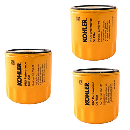 Kohler 52 050 02-S Engine Oil Filter Extra Capacity for CH11 - CH15, CV11 - CV22, M18 - M20, MV16 - MV20 and K582 (Pack