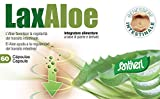 Complemento alimenticio Laxaloe de Santiveri: estuche de 60 cápsulas (22 gr) a base de aloe vera e hinojo