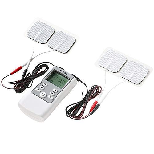 Conveniente Electroestimulador Profesional TENS EMS Muscular Estimulador Masajeador Electro 4 Canales 16 Modo Pantalla Digital Masajeador Corporal Meridiano Máquina de Fisioterapia Muscular de Relajac