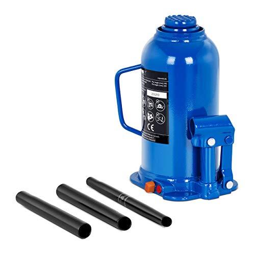 MSW Gato Hidráulico De Botella Elevador Neumático Para Coche MSW-BJ20 (Acero, Capacidad de Carga Máxima: 20 .000 kg, Altura de elevación: 150 mm)