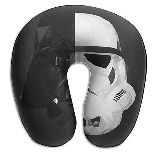 Darth Vader Stormtrooper Baby Yoda Star The Wars Mandalorianisches Nackenkissen – Memory Foam Nackenkissen Stützkissen, luxuriöses, kompaktes und leichtes Reise-Nackenkissen