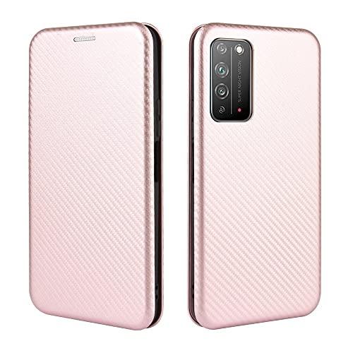 AHUOZ Tapa de la Caja de la Caja del teléfono para Huawei Honor X10 Case, Fibra de Carbono de Lujo PU y Funda Híbrida TPU PROTECCIÓN FULLES PROTECTORIA Funda a Prueba de Golpes para Huawei Honor X10