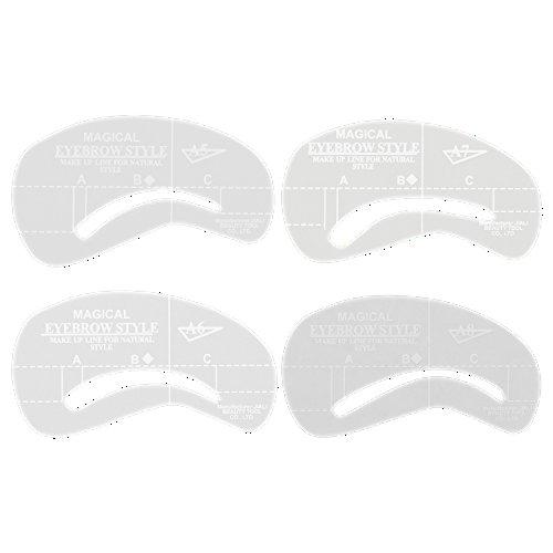 Broadfashion Augenbrauen Schablone Eyebrow stencil Form Make-up (A1-A4)