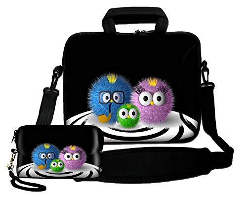 Luxburg® Schultertasche, 14 Zoll, weich, für Notebooks, mit Handgriff, plus Schutzhülle für Kameras