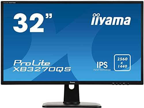 iiyama ProLite XB3270QS-B1 80cm (32 Zoll) IPS LED-Monitor WQHD (DVI, HDMI, DisplayPort, Höhenverstellung) schwarz