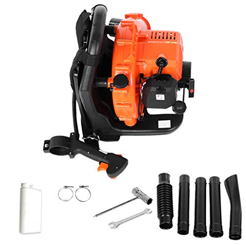 65cc 2-Stroke 210 MPH Engine Back Pack Leaf Blower Backpack Leaf Blower 2.3Hp High Performance Gas Powered Gasoline Blower for Lawn Care, Blowing Leaf Snow, DustingUS Stock