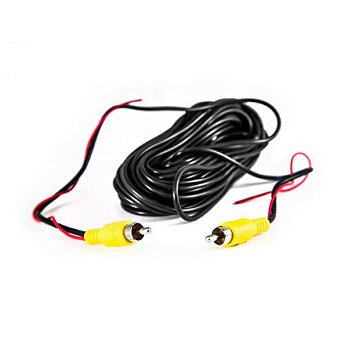 Carmedien 10m Rückfahrkamera Videokabel Cinch Kabel mit Steuerleitung Chinch Stecker gelb 10 Meter Anschlusskabel