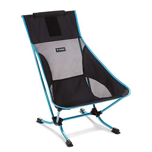 Helinox Beach Chair   Eine Kombination aus Einer einzigartigen Architektur für Sand und weiche Böden und Komfort, Verstaubarkeit und Einer minimalistischen Ästhetik (Black)