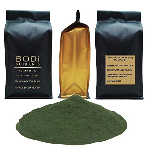 BODi : Blue Green Algae (AFA: Aphanizomenon Flos Algae) 100% Pure Natural Powder (4 8 16 32 oz) Superfood Natural Killer Cell Blood Tonic (16 oz)