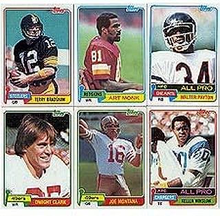 1981 Topps Football Complete Near Mint to Mint Set Featuring Joe Montana's Rookie Card, Art Monk, Kellen Winslow, Dwight Clark, Dan Hampton, Mark Gastineau, Walter Payton, Terry Bradshaw, Tony Dorsett, Phil Simms, Ken Stabler and Others!
