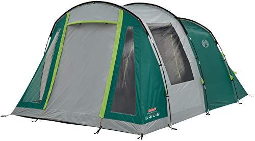 Coleman tent Granite Peak 4 personen tunneltent met nachtzwarte slaapcabine, 4-man familietent, waterdicht WS 4.500 mm