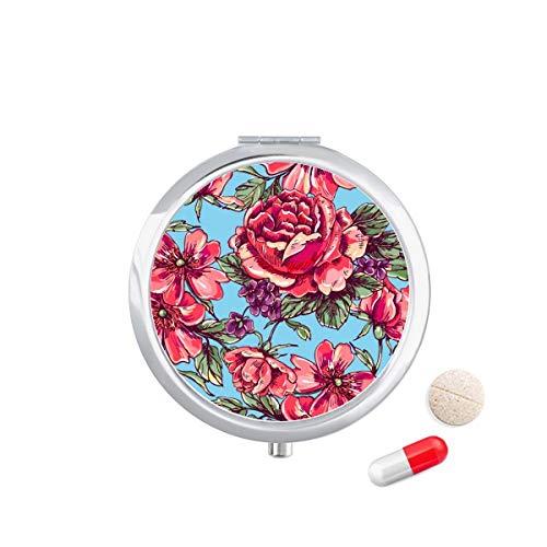 DIYthinker Broek Bloem Leven Blad Sky Travel Pocket Pill Case Medicine Drug Opbergdoos Dispenser Spiegel Gift