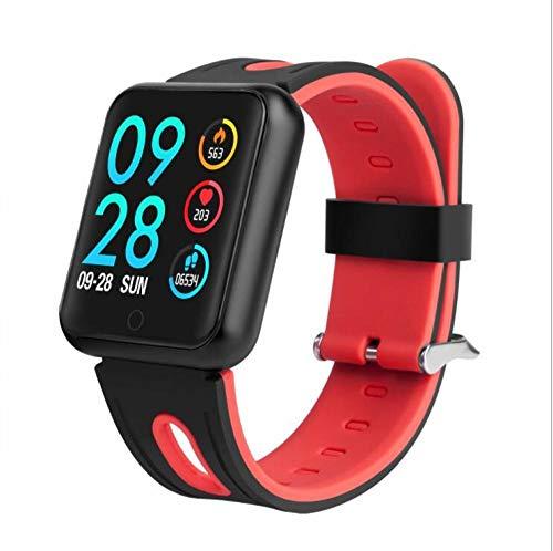 NUNGBE Pulsera Inteligente, rastreador de Fitness para Mujer, Monitor de frecuencia cardíaca, presión Arterial IP68 Pulsera Inteligente a Prueba de Agua-Silica_Red