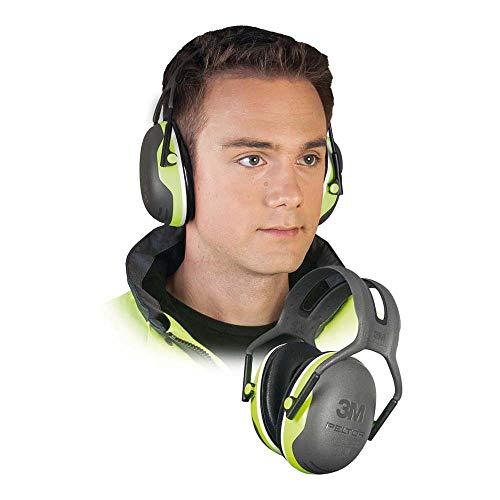 3M Peltor gehoorbescherming X4A neongroen - gehoorbescherming met verstelbare hoofdband in smalle dubbelbeugel ontwerp - SNR 33 dB gehoorbescherming ook bij hoog volume