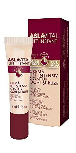Aslavital Lift Crème lift instantanée et intense contour des yeux et des lèvres, pour tous les types de peau, 15 ml