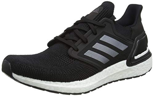 adidas Mens Ultraboost 20 Running Shoe, Core Black/Night Met./FTWR White, 45 1/3 EU