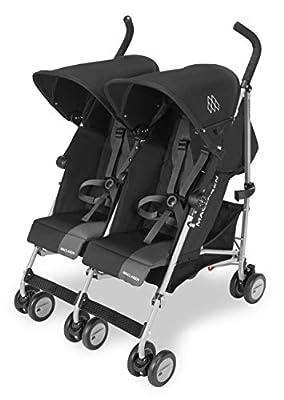 Maclaren Twin Triumph Silla de paseo doble - ligera, de los 6 meses hasta los 50kg, encaja a través de la mayoría de las puertas, Capota extensible con UPF 50+