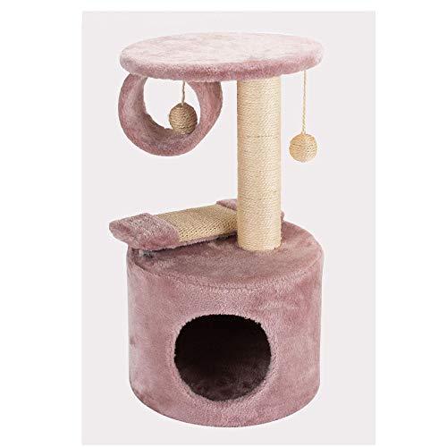 Inicio Equipamiento Árbol para gatos Torre para gatos con postes rascadores cubiertos de sisal Cesta Bola de piel y condominios acogedores Muebles para gatos para gatitos Marco de escalada ligero p