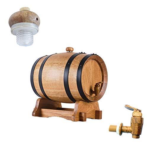 GAXQFEI Estante de Vino de Barril de Madera, Barril de Envejecimiento de Roble Premium, sin Liner Oak Barrel Barril Bebida Bebida Splitter para Alenamiento O Envejecimiento Vino Espíritu Barriles de