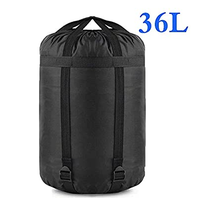 Borogo Compression Stuff Sack, 36L Sleeping Bags Storage Stuff Sack Organizer Waterproof Camping Hiking Backpacking Bag for Travel - Great Sleeping Bags Clothes Camping Hiking