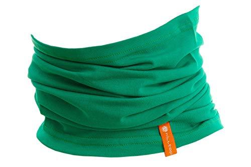 Halstuch aus Baumwolle, Multifunktionstuch, Schlauchtuch, Bandana, Geschenk für Frauen und Männer, Farbe/Design:Emerald