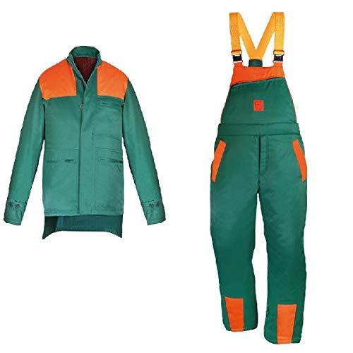 FORSTBEKLEIDUNG DR-PIL-U M-3XL Jacke + Schnittschutzhose Schutzbekleidung Set Größe XXXL