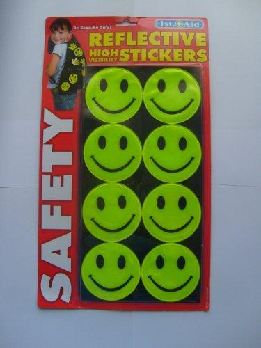Bandes réfléchissantes haute visibilité pour sac à dos de Camping Stickers-Smiley-Lot de 8