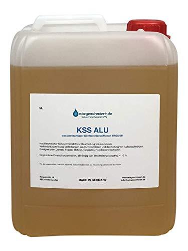 Kühlschmierstoff Aluminium zum Fräsen, Drehen, Gewindeschneiden, Schleifen | schaumarm - borsäure- und formaldehydfrei | 5 Liter Kanister