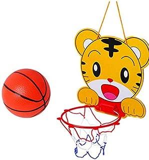 Mini Tiger Basketball Slam Dunk Hoop Set,Over the Door Plastic Toy BackboardBall Pump,Simple Assembly, Kids Toy Basketball Hoop Board Plastic With Indoor Hanging Hoops Game