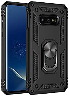 Military Grade Drop Impact for Samsung Galaxy Note 8 Case 360 Metal Rotating Ring Kickstand Holder Built-in Magnetic Car Mount Armor Shockproof Cover for Galaxy Note 8 Protection Case (Black)