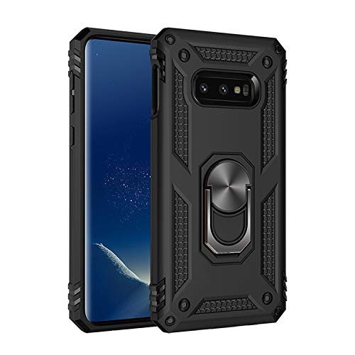 Military Grade Drop Impact for Samsung Galaxy Note 8 Case 360 Metal Rotating Ring Kickstand Holder Built-in Magnetic Car Mount Armor Shockproof Case for Galaxy Note 8 Protection Case (Black)