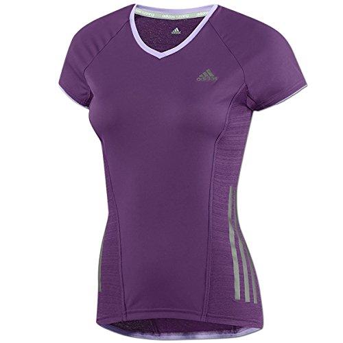 adidas Damen Supernova Shirt Laufshirt Running Climacool (purple, XXS)
