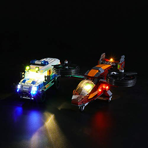 LIGHTAILING Conjunto de Luces (City Police Policía Aérea Robo del Diamante) Modelo de Construcción de Bloques - Kit de luz LED Compatible con Lego 60209 (NO Incluido en el Modelo)