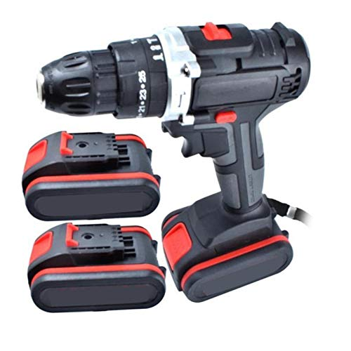 Electric Drill, 48VF Electric Drill Impact Drill Cordless Screwdriver Lithium Cordless Drill Wrench Wireless Electric Drill Set for Home