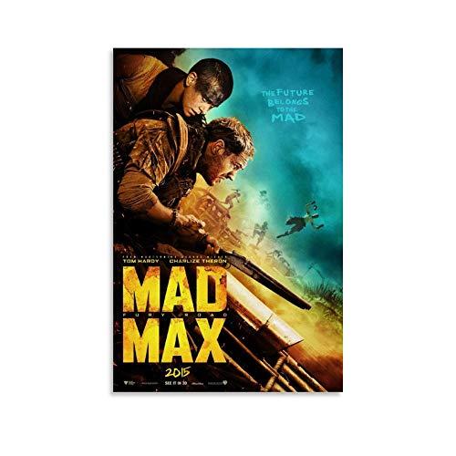 tongwenguan Póster de la película Mad Max Fury Road (2015) y póster artístico para pared moderno para dormitorio familiar (20 x 30 cm)