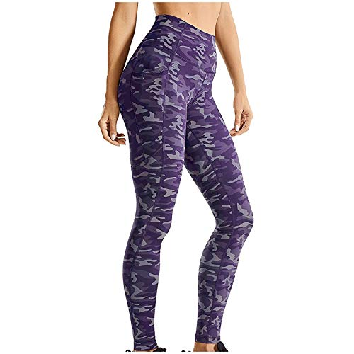 SHOBDW Leggings Mujer Cintura Alta Mallas Pantalones Deportivos Elásticos Reducir Vientre Fitness Abdomen Medias Leggins con Bolsillos para Yoga Running Leggings (E,M)