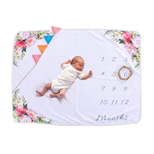 Mxssi Babydecken Swaddle Wrap Neugeborenen Mode Badetücher Blume Gedruckt Nette Weiche Decke DIY Infant Kinder Fotografie Requisiten