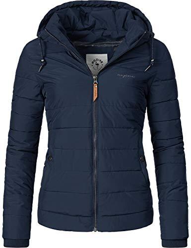 mazine Damen Winterjacke Steppjacke mit Kapuze Juneau Blau Gr. XL