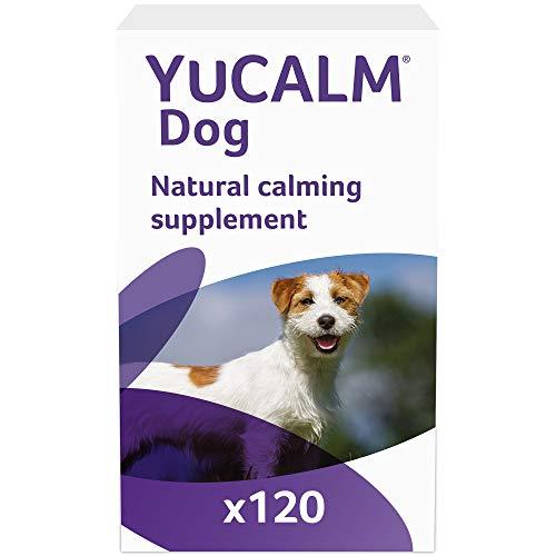 Lintbells YuCALM Dog | Suplemento calmante para Perros estresados o nerviosos, Todas Las Edades y Razas | 120 tabletas